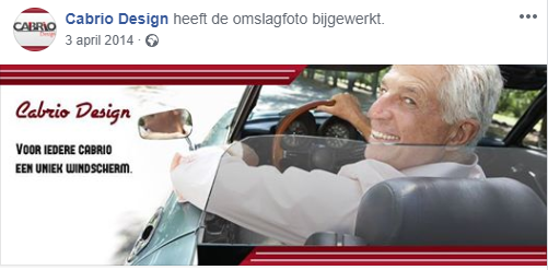 Cabrio Design Facebook promotie
