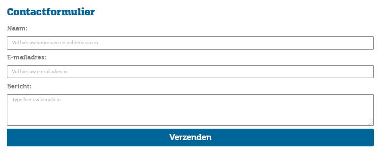 Contactformulier Bouwklusbedrijf AF