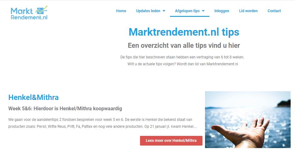 Overzicht nieuws Marktrendement.nl