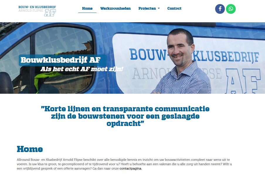 Website Buuwklusbedrijf AF